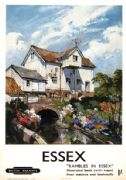 Rambles in Essex. Vintage BR Travel poster by Terence Cuneo. 1952